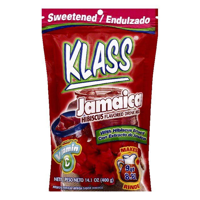 Klass Jamaica Hibiscus Flavored Drink Mix, 14.1 OZ (Pack of 6)