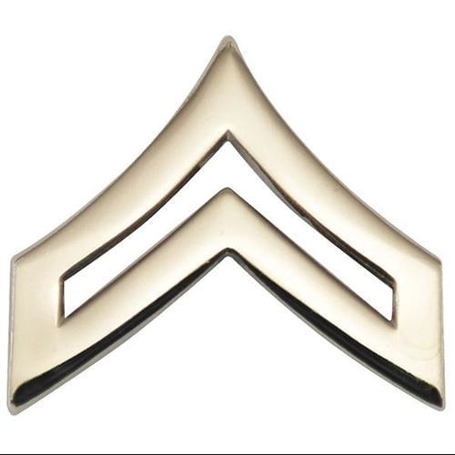 HEROS PRIDE 4440TN Metal Rank Insignia, CPL. Chevron, Nckl, PR