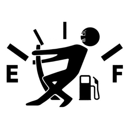 Funny High Gas Consumption Decal Fuel Gage Empty Stickers Vinyl JDM Car Stickers Car Styling, 4.7