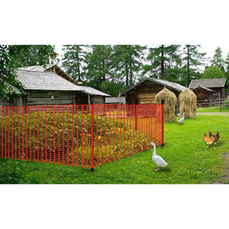 "V Protek Safety Fence, Snow Fencing, Deer Netting, 39""x82"