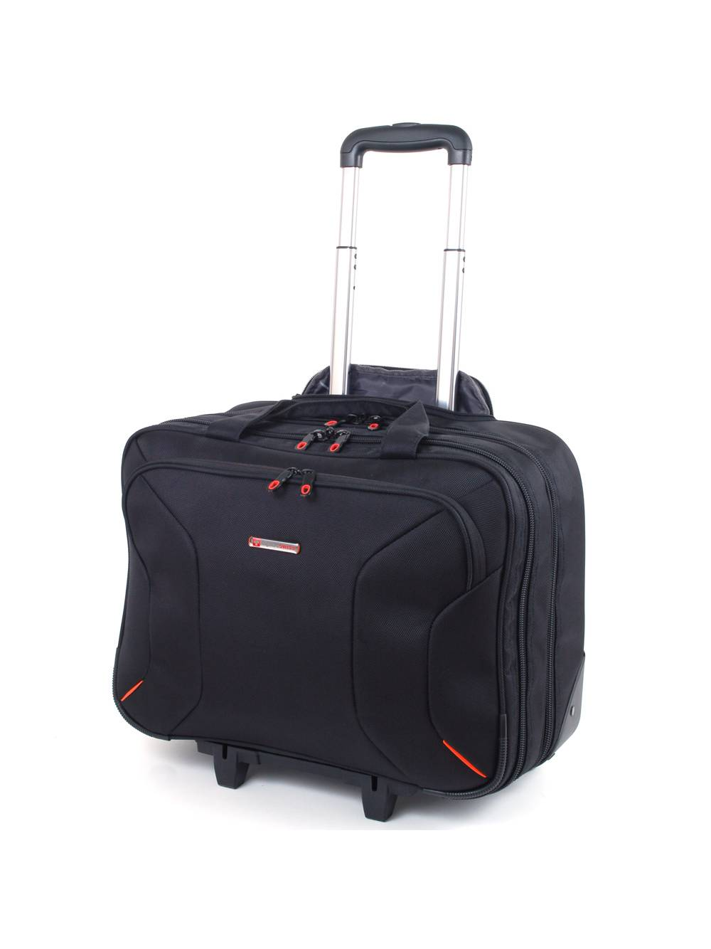 "Alpine Swiss Rolling Briefcase on Wheels Roller 17"" Laptop Case W Tablet Sleeve by Alpine Swiss"