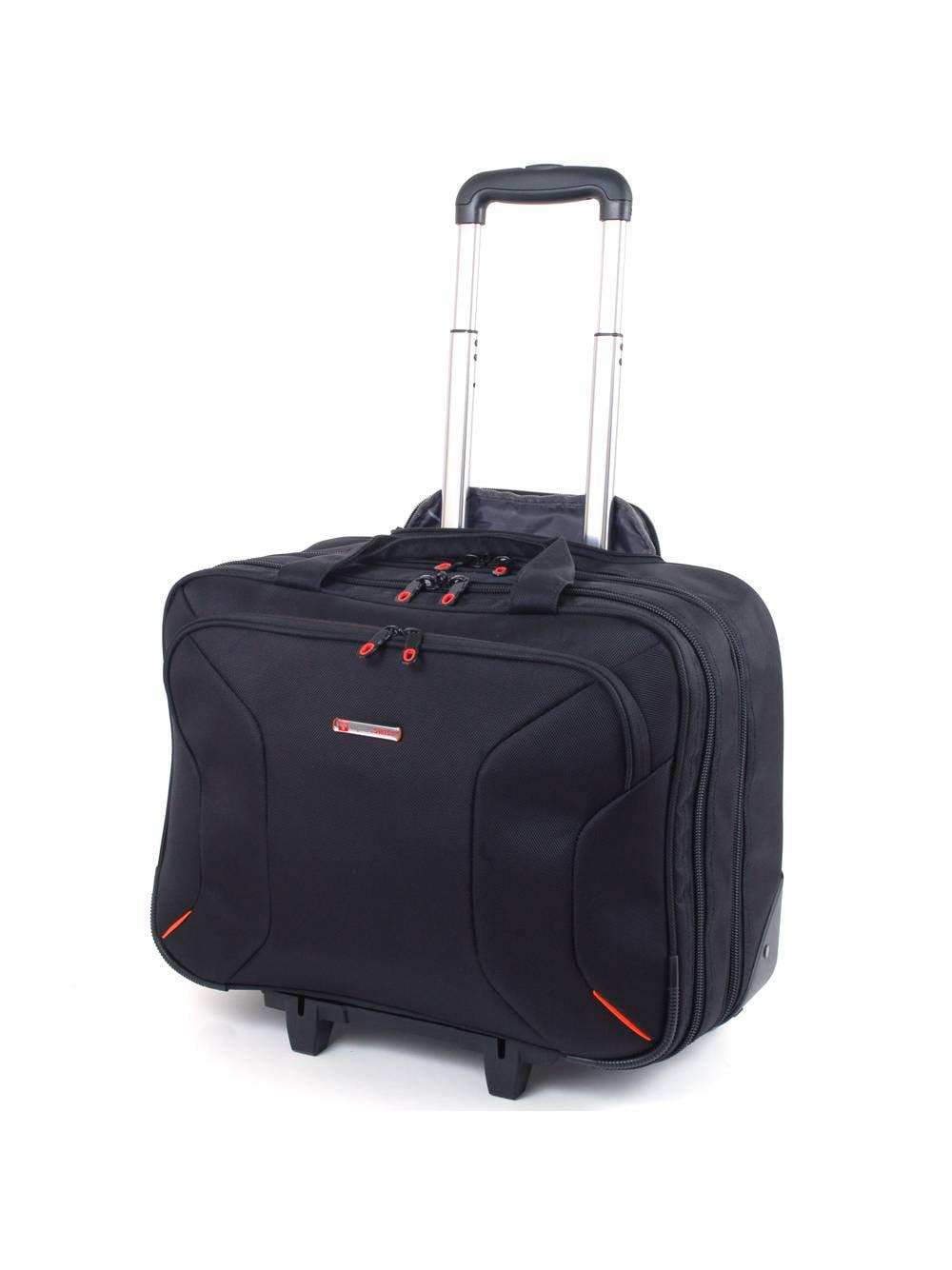 """Alpine Swiss Rolling Briefcase on Wheels Roller 17"""" Laptop Case W Tablet Sleeve by Alpine Swiss"""