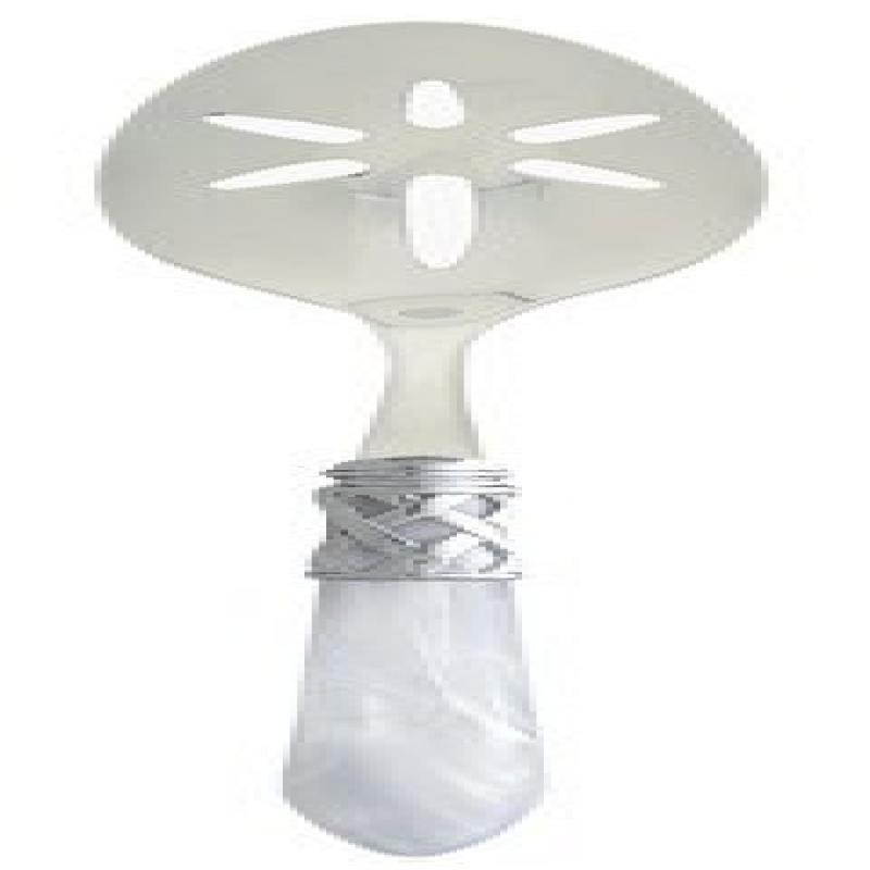 Vietri Aladdin Brilliant White Slotted Serving Spoon