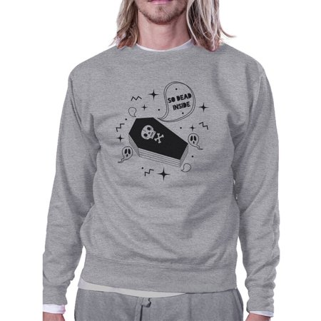 So Dead Inside Coffin Grey Funny Graphic Sweatshirt For - Coffins For Halloween