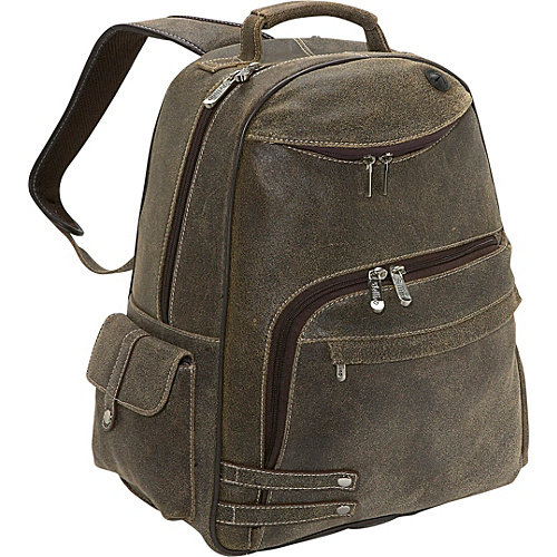 Bellino The Rebel Leather Laptop Travel Backpack