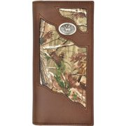 3D Belt DBW452 Brown Distressed Leather with Realtree Camo Rodeo Wallet - 7.25 x 3.50 in.
