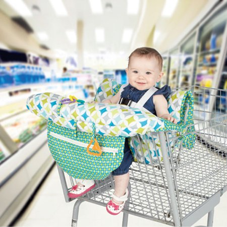 Printed Baby Child Supermarket Trolley Dining Chair Protection Antibacterial Safety Travel Cushion Portable Shopping Cart Cushion - image 6 de 9