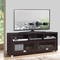 "Techni Mobili 58"" Durbin TV Stand for TVs up to 75"", Espresso or Grey Wood"