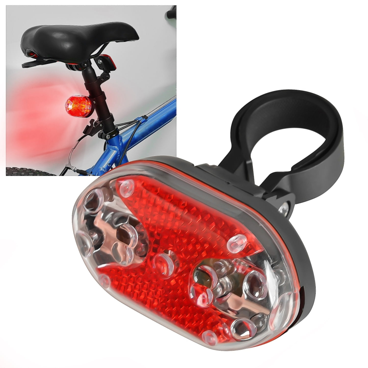 Insten 9 Led Bike Bicycle Taillight Tail Rear Light Red Warning