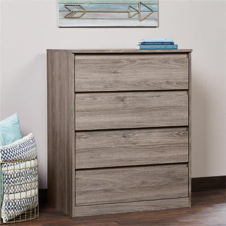 Mainstays Westlake 4 Drawer Dresser Rustic Oak