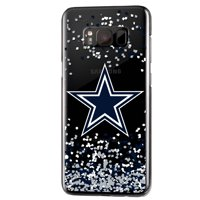 Dallas Cowboys Galaxy Clear Case with Confetti Design