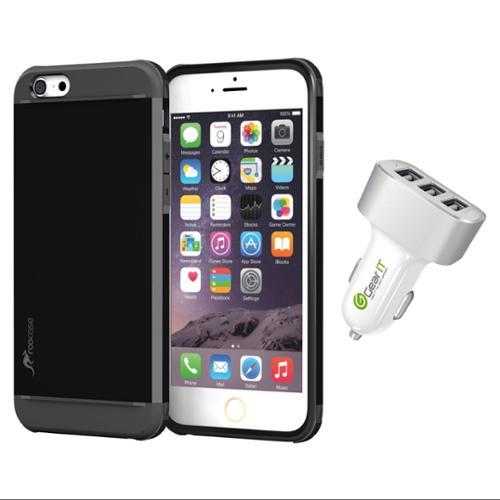 iPhone 6 Case, roocase Slim Fit [EXEC TOUGH] Hybrid PC / TPU Armor Case for Apple iPhone 6 4.7 / iPhone 6 Plus 5.5