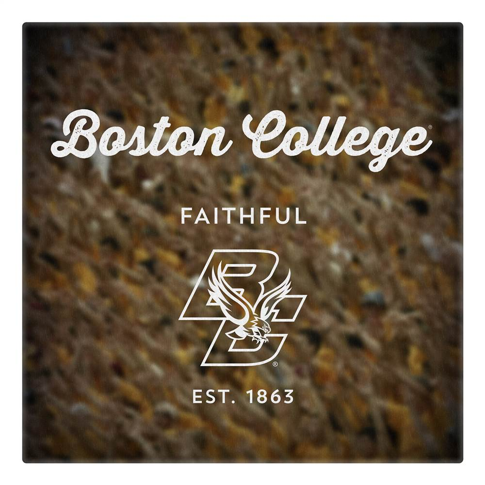 Canvas of Boston College Logo Art