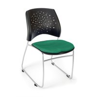 OFM Stars Series Model 325 Fabric Stack Reception Waiting Room Chair, Shamrock Green, Pack of 4