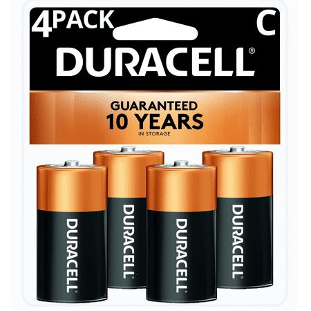 Duracell 1 5v Coppertop Alkaline C Batteries 4 Pack Walmart Com