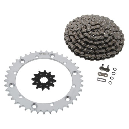 CZ DZO O-Ring Chain & Silver Sprocket 12/41 104L 01-05 Yamaha Raptor 660 (Rotor O-ring)