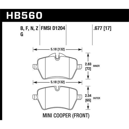 Hawk 05-06 JCW R53 Cooper S & 07+ R56 Cooper S Performance Ceramic Street Front Brake Pads