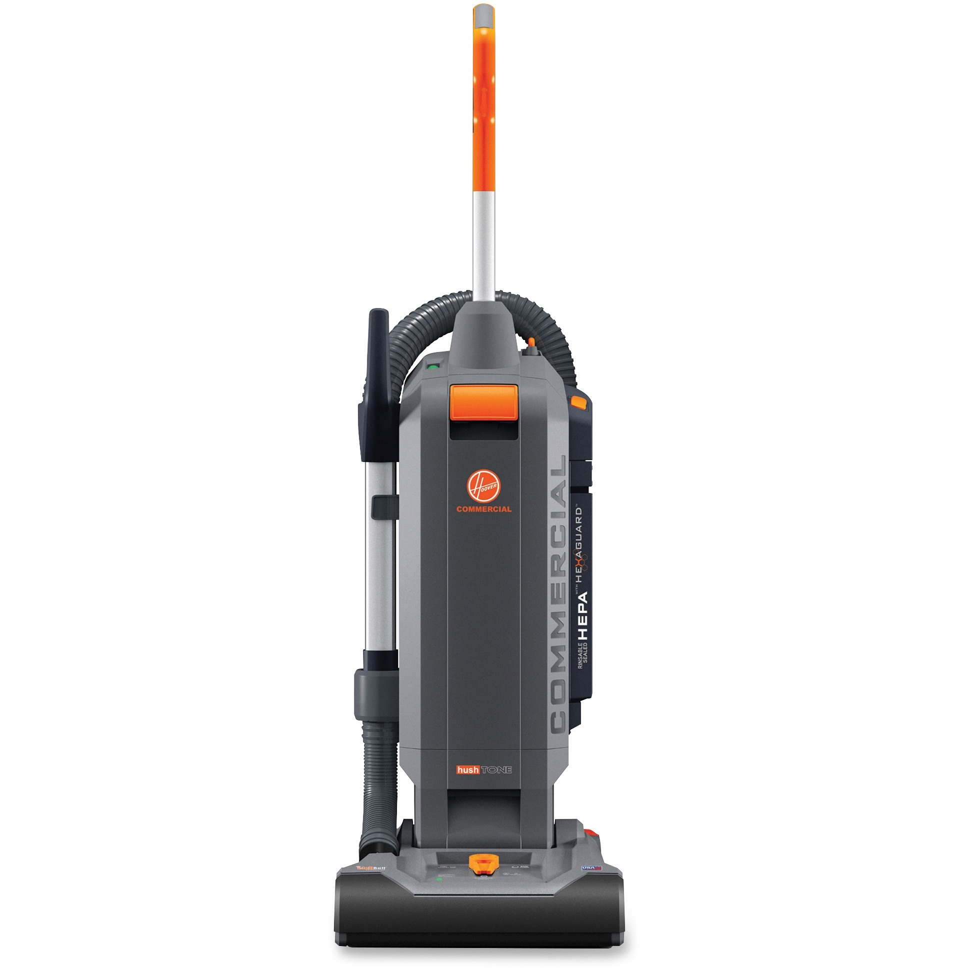 Hoover HushTone 13Plus Upright Vacuum, Gray