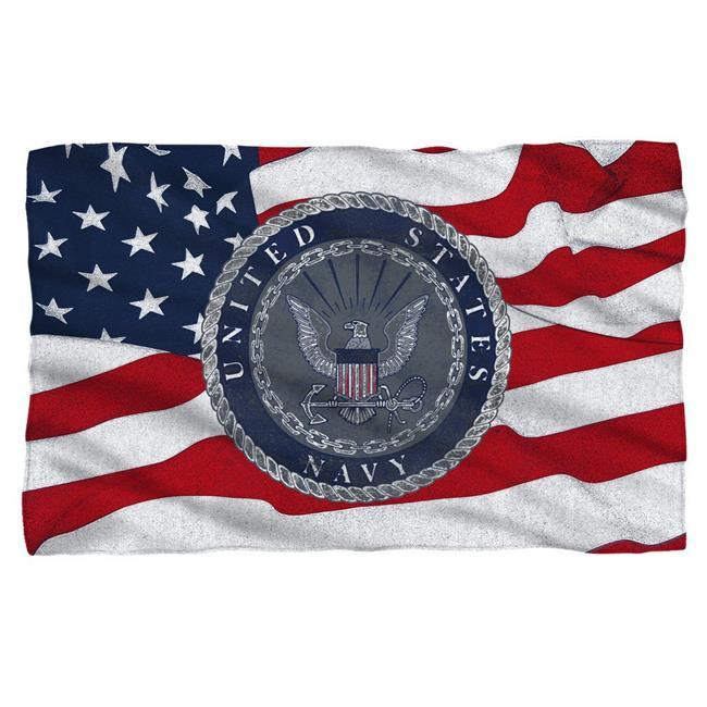 Trevco Na120 Bkt1 36x58 36 X 58 In Navy Flag Seal Polyster Fleece Blanket 44 White Walmart Com Walmart Com