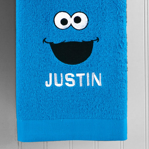Personalized Sesame Street Bath Towel, Cookie Monster