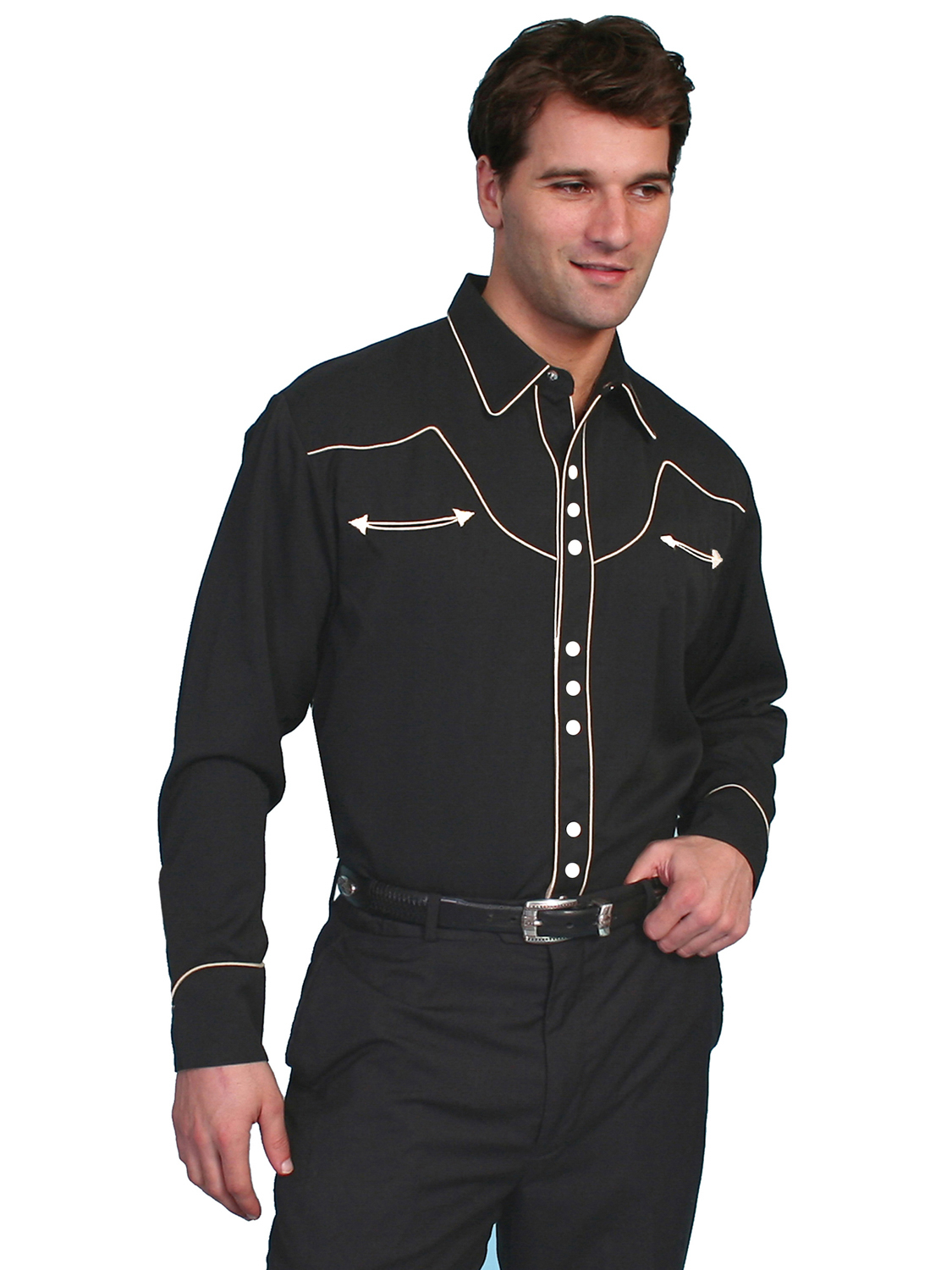 Scully One of Our Best Selling Shirts Black