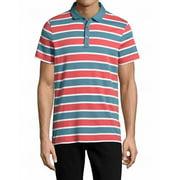 Tommy Hilfiger NEW Red Blue Men's Size 2XL Stripe Knit Polo Shirt