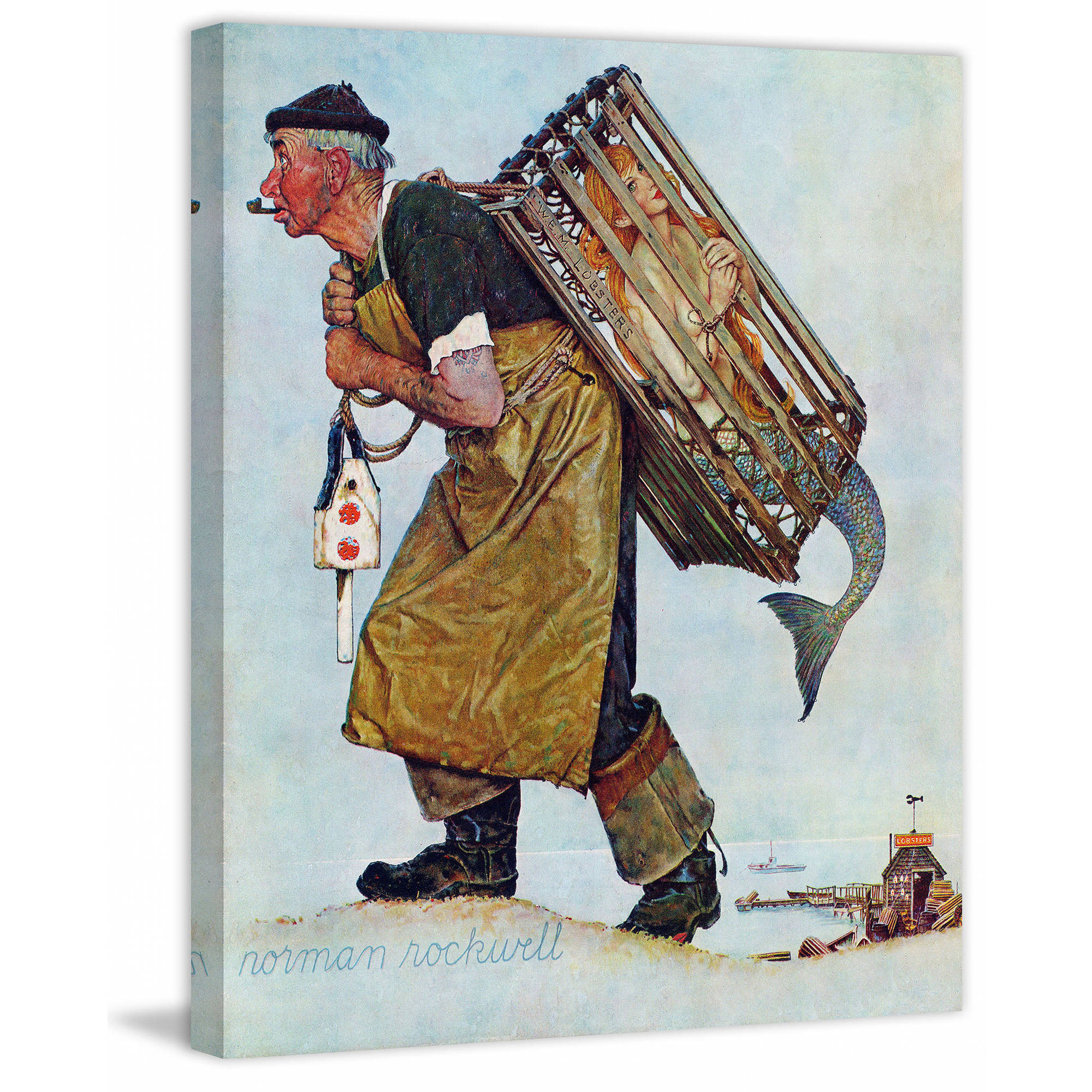 Marmont Hill Mermaid by Norman Rockwell Painting Print on Canvas ...