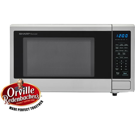 Sharp Carousel 1 Cu Ft 1000w Countertop Microwave Oven With Orville Redenbacher S Popcorn Preset