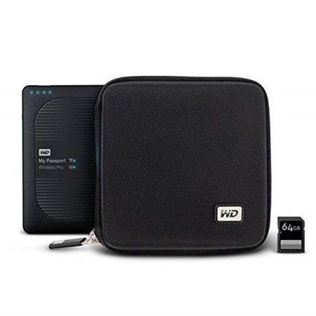 Passport Wireless Executive Kit - HARD CARRYING CASE FOR MY PASSPORT WIRELESS PRO WITH SD CARD SLOTS