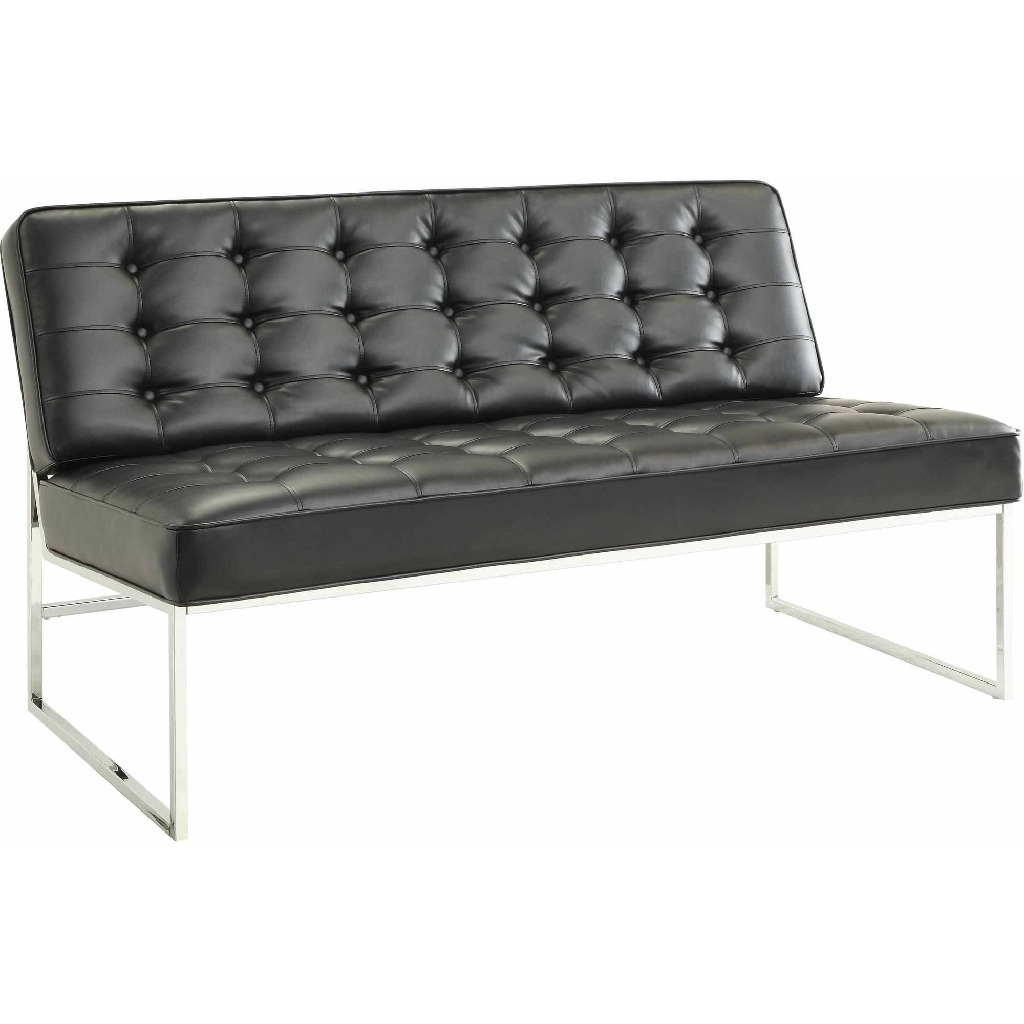 "Anthony 57"" Wide Loveseat with Chrome Base"