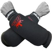 Meister Cloth Forearm Guards w/ Integrated Gel (Pair) - BK - Small / Medium