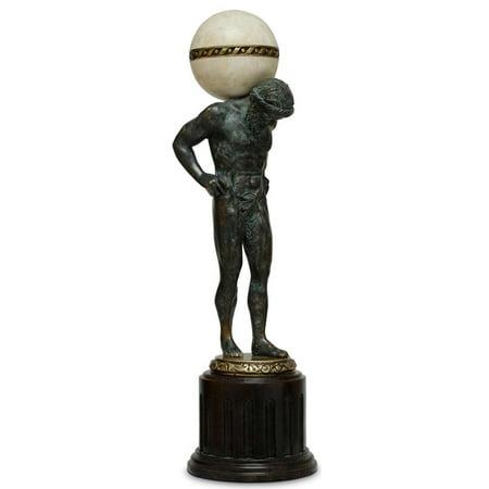 Sculpture Statue Scarborough House Atlas Figure Brass American Walnut Agate