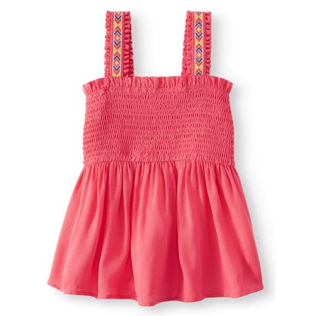 Gauze Sleeveless (Smocked Gauze Tank Top (Little Girls, Big Girls & Big Girls)