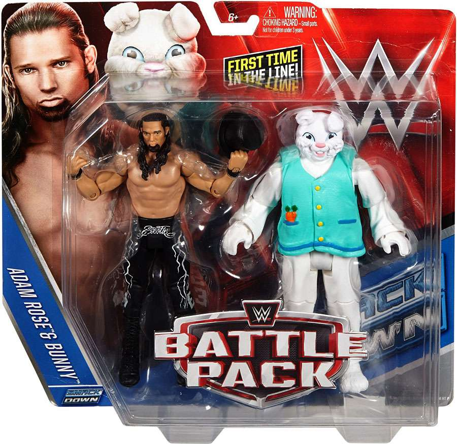 WWE Wrestling Series 38 Adam Rose & Bunny Action Figure 2-Pack DJR89