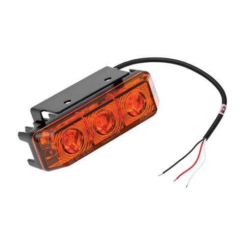 "LED Multi-Functional Strobe Light w/11-3/4"" Leads & Bracket Amber 54205-020"