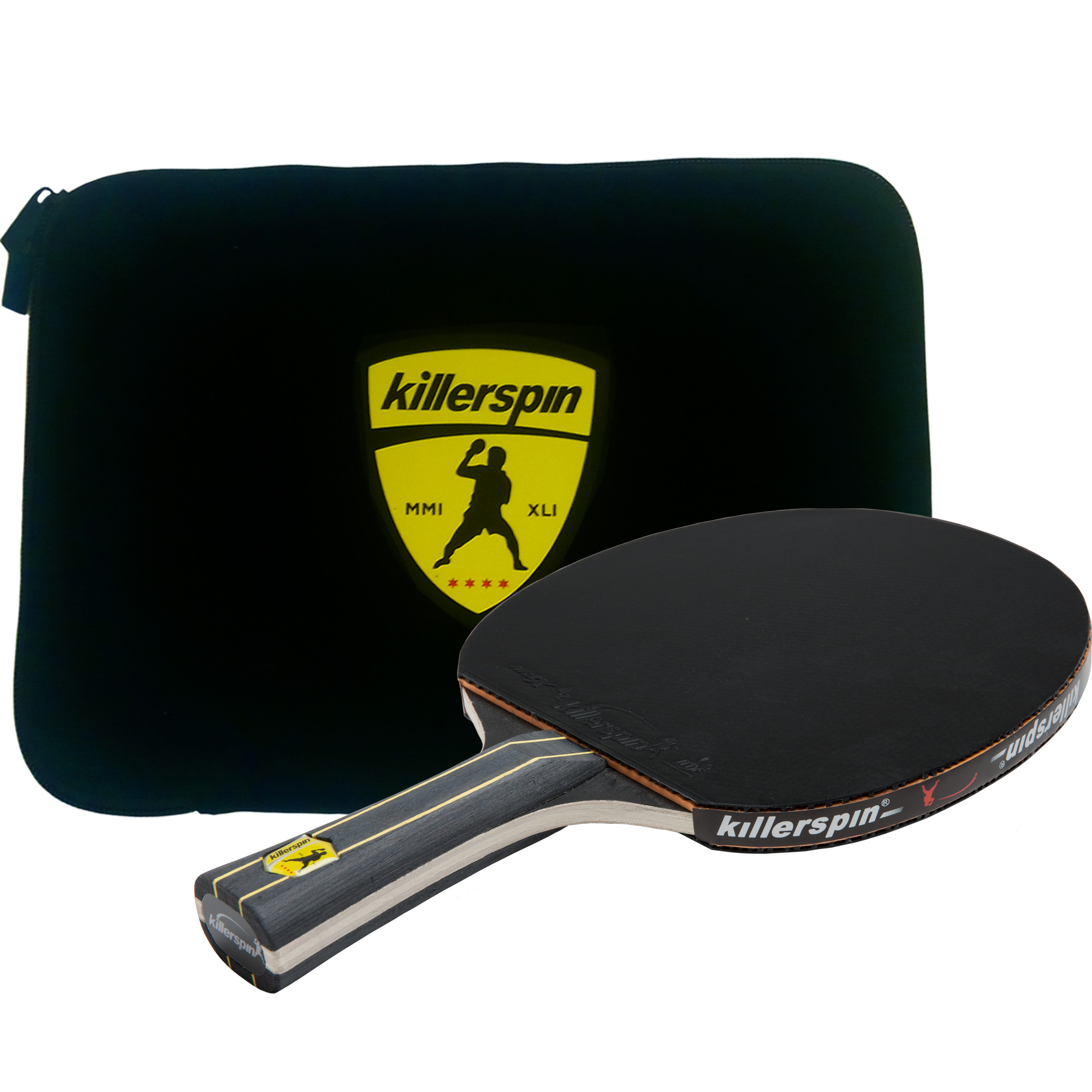 fc55b56f15b Killerspin JET Black Table Tennis Set including Compeititon Paddle with 5  Layer Wood Blade Nitrx-4Z Rubbers - Walmart.com