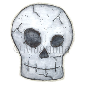 "So Spooky Cling Stamp 3.75""X6.5"" Package-Skull"