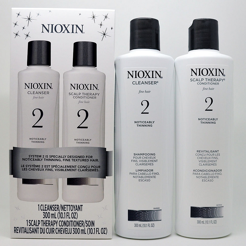 Nioxin Nioxin System 2 Cleanser Amp Scalp Therapy Duo 300