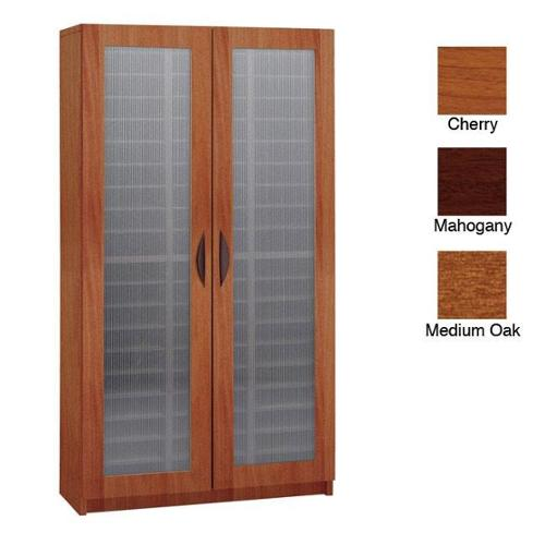 Safco 60-slot Literature Organizer with Doors Cherry