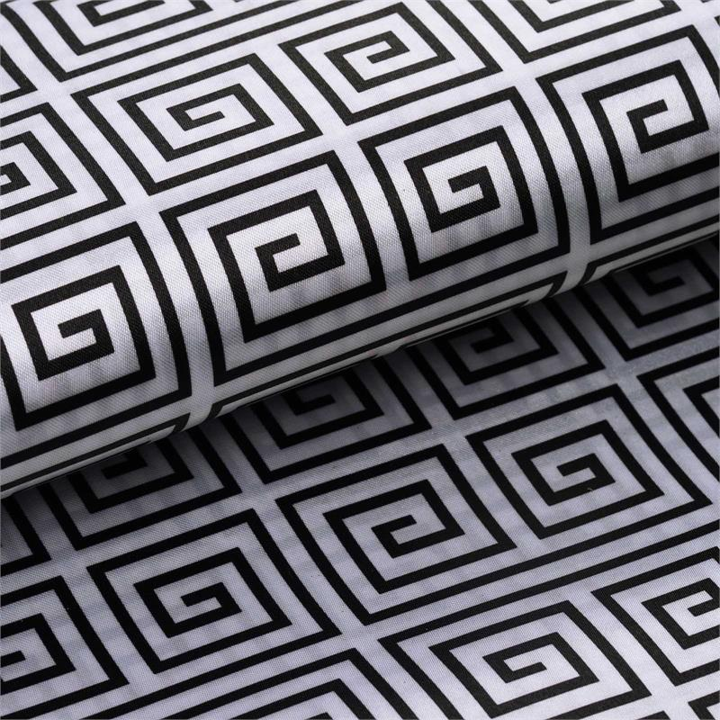 BalsaCircle 54 inch x 10 yards Satin Greek Design Fabric Bolt