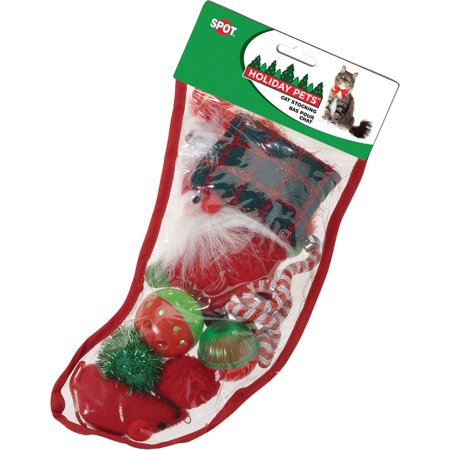 Holiday Cat Christmas Stocking Cat Toy, 8 Count (Cat Christmas Toys)