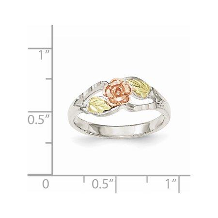 Sterling Silver & 12k Rose Ring - image 1 de 3