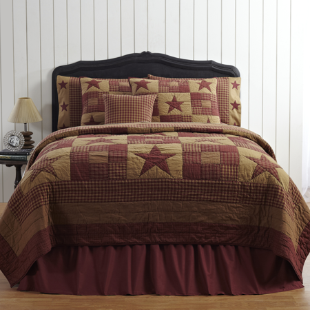 Vhc Brands 13610 Ninepatch Star King Quilt 95 X 105 In