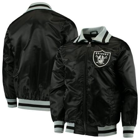 Oakland Raiders Starter Captain Satin Varsity Jacket - (Oakland Raiders Jacket)