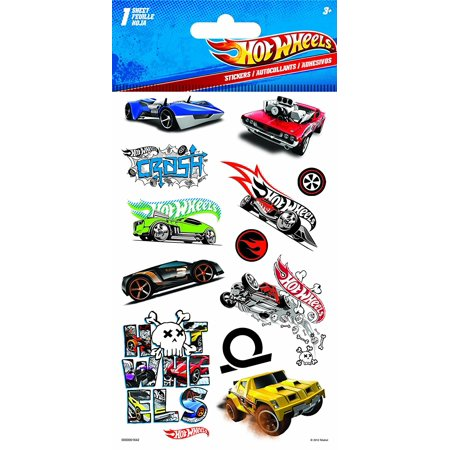 Hot Wheels Stickers (Hot Wheels Dimensional Stickers, Foam EmbossedAdds instant dimension to your project By)