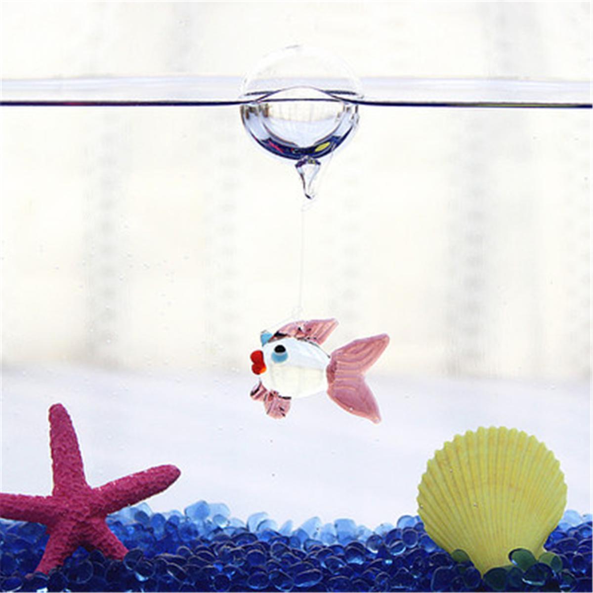 Aquarium Floating Blown Glass Bubble Micro Fish Tank Landscape Ornament Decor