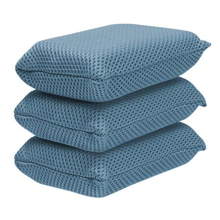 - Viking Microfiber Mesh Bug Sponge - 3pk Bundle - Blue