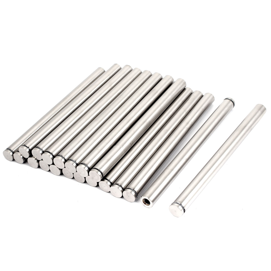 20pcs 19mmx250mm Stainless Steel Advertising Screw Nails Glass Standoffs Pin
