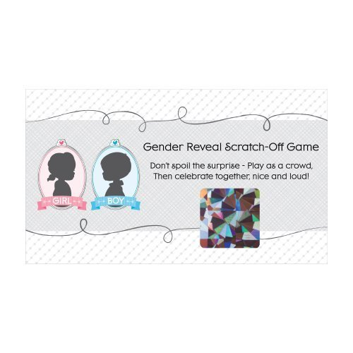Gender Reveal Girl - Baby Shower Game Scratch Off Cards - 22 Count