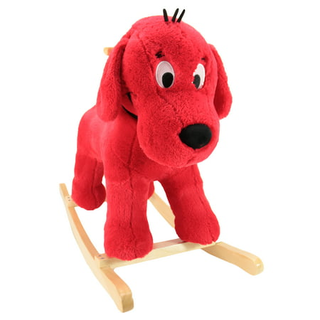 - Clifford Big Red Dog RideOn Rocker Plush Rocking Horse, 28